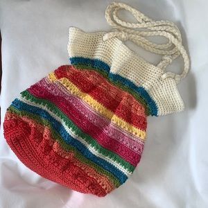 Lina Crochet Multicolored Shoulder Bag